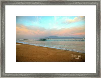 Framed Print featuring the photograph Sunrise On Ka'anapali by Kelly Wade