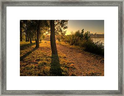 Sunrise On Kaw Point Framed Print by Don Wolf