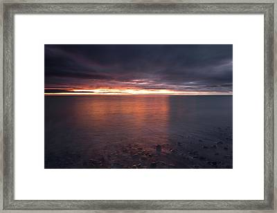 Sunrise On Killiney Beach Framed Print