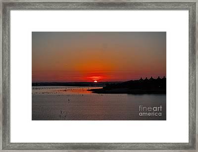 Sunrise On Lake Ray Hubbard Framed Print