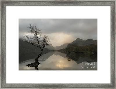 Sunrise On Llyn Padarn, North Wales Uk Framed Print by Amanda Elwell