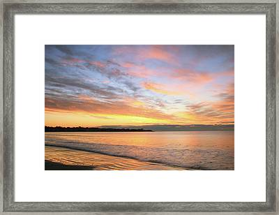 Framed Print featuring the photograph Sunrise On Middletown Rhode Island by Roupen  Baker