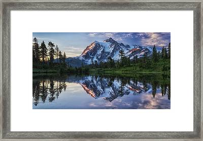Sunrise On Mount Shuksan Framed Print by James K. Papp