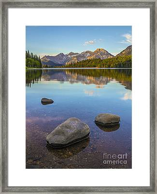Sunrise On Mount Timpanogos Framed Print