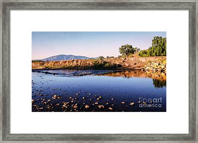 Sunrise On Nariel Creek Framed Print