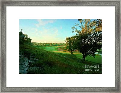 Sunrise On No. 18 Blackwolf Run - Digital Painting Framed Print