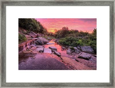 Sunrise On Pillsbury Crossing Framed Print
