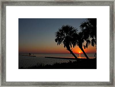 Framed Print featuring the photograph Sunrise On Pleasure Island by Judy Vincent