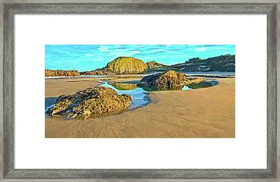 Sunrise On Seal Rock Beach  Framed Print by Thom Zehrfeld