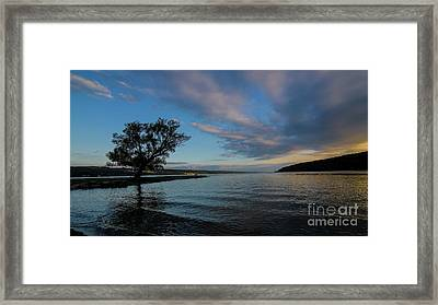 Sunrise On Seneca Lake Framed Print