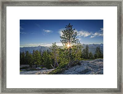Sunrise On Sentinel Dome Framed Print by Rick Berk