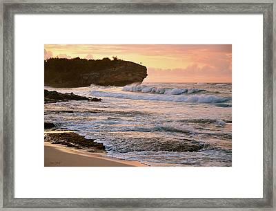 Sunrise On Shipwreck Beach Framed Print