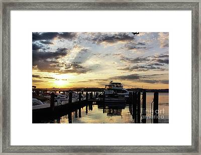Sunrise On The Alexandria Waterfront Framed Print