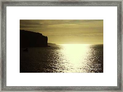 Sunrise On The Almalfi Coast Framed Print