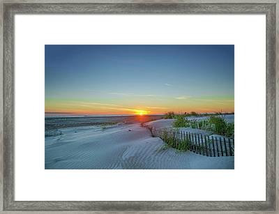 Sunrise On The Beach Framed Print by Bill Cannon