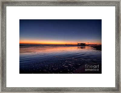 Sunrise On The Beach Framed Print by Michael Herb