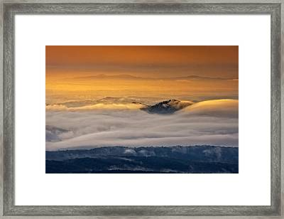 Framed Print featuring the photograph Sunrise On The Blue Ridge Parkway by Ken Barrett