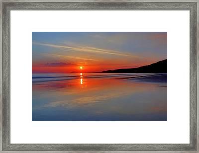 Sunrise On The Coast Framed Print by Roy McPeak