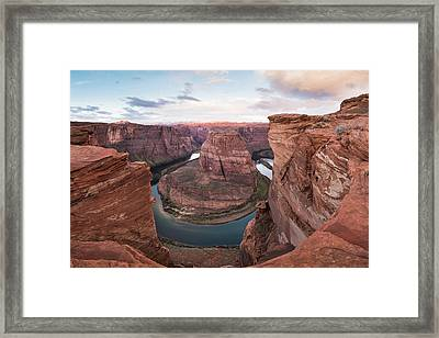 Sunrise On The Colorado Framed Print