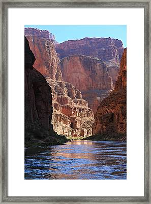 Sunrise On The Colorado Framed Print by Mike Buchheit