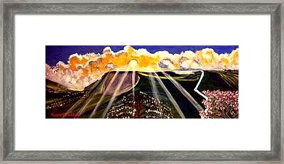 Sunrise On The Darren Mountain Framed Print