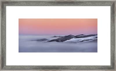 Sunrise On The Dunes Framed Print
