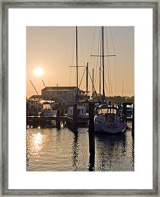 Sunrise On The Eastern Shore Of Maryland Framed Print