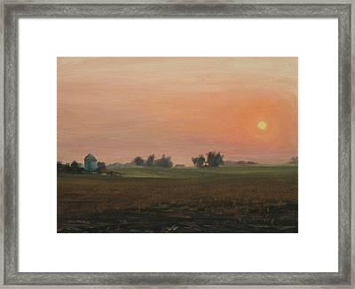 Sunrise On The Farm Framed Print by Steve Haigh