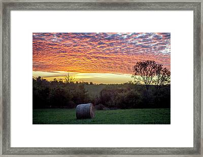 Framed Print featuring the photograph Sunrise On The Farm by Wade Courtney