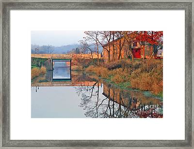 Sunrise On The I And  M Canal Framed Print