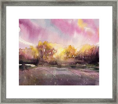 Sunrise On The Lane Framed Print