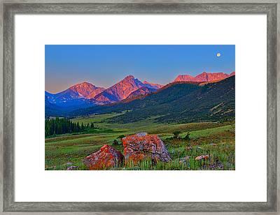 Sunrise On The Lost River Range Framed Print