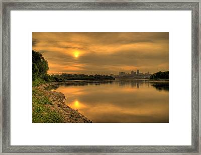 Sunrise On The Missouri River Framed Print by Don Wolf