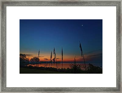 Framed Print featuring the photograph Sunrise On The Neuse 1 by Cindy Lark Hartman