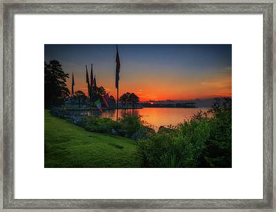 Framed Print featuring the photograph Sunrise On The Neuse 2 by Cindy Lark Hartman