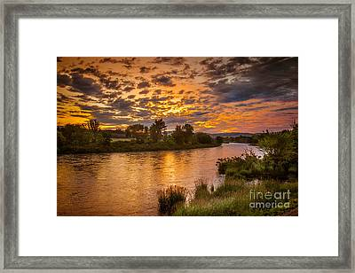 Sunrise On The Payette River Framed Print by Robert Bales