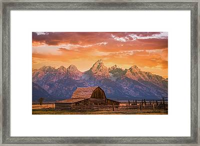 Framed Print featuring the photograph Sunrise On The Ranch by Darren White