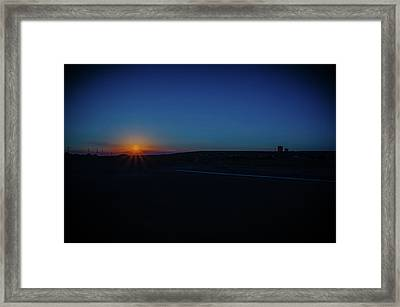 Sunrise On The Reservation Framed Print by Mark Dunton