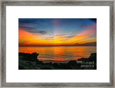 Sunrise On The Rocks Framed Print