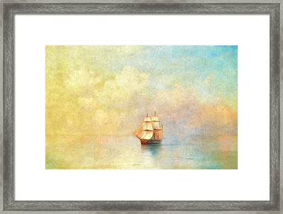 Sunrise On The Sea Framed Print by Georgiana Romanovna
