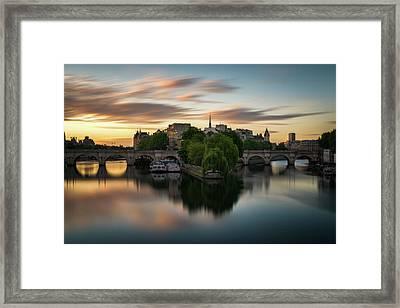 Sunrise On The Seine Framed Print