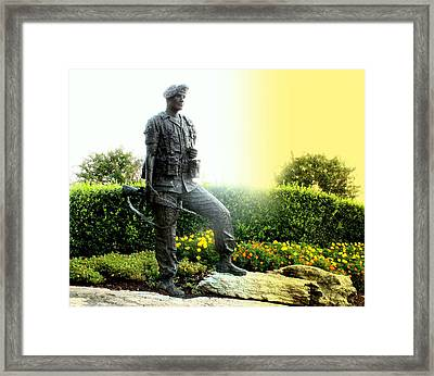 Sunrise On The Soldier Framed Print by Angela Comperry