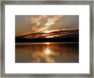 Sunrise On The Turtle Flambeau Flowage Framed Print