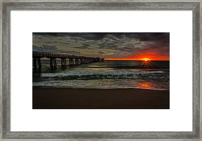 Sunrise On The Water Framed Print