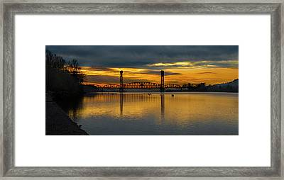 Sunrise On The Willamette Framed Print
