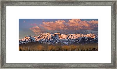 Sunrise On Timpanogos Framed Print
