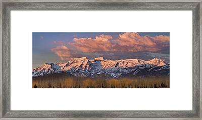 Sunrise On Timpanogos Framed Print by TL Mair