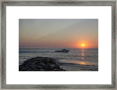 Sunrise On Townsends Inlet - New Jersey Framed Print by Bill Cannon