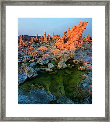 Sunrise On Tufa 2 Framed Print