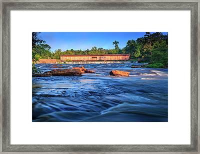 Sunrise On Watson Mill Bridge Framed Print